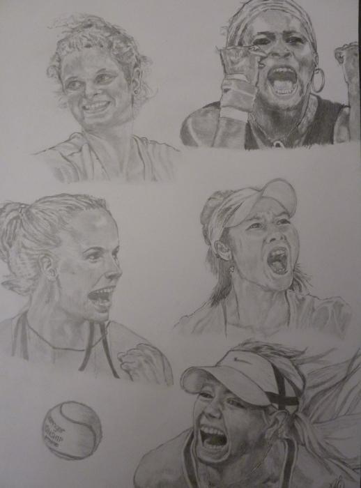 Serena Williams, Caroline Wozniacki, Kim Clijsters, Maria Sharapova, Li Na par ABO